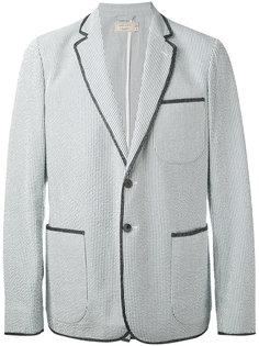 полосатый пиджак с накладными карманами Maison Kitsuné