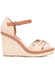 buckled wedge sandals Tommy Hilfiger