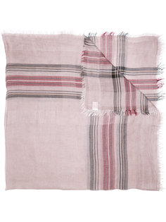 plaid print scarf Faliero Sarti