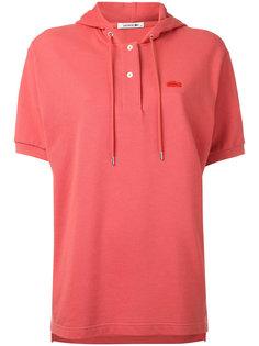 рубашка-поло из ткани пике с капюшоном Lacoste