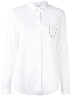 рубашка с контрастной окантовкой на кармане Fabiana Filippi