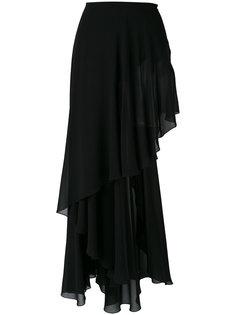 асимметричная юбка Saint Laurent