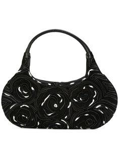 contrast trim floral handbag Giorgio Armani Vintage