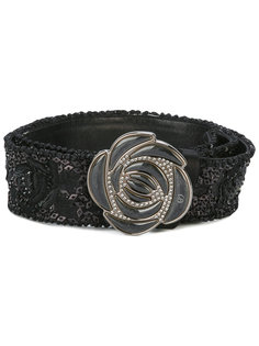 scalloped floral buckle belt Giorgio Armani Vintage