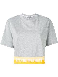 футболка с принтом-надписью Opening Ceremony