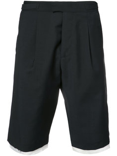 contrasting layer tailored shorts Raf Simons