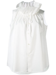 блузка с рюшами Comme Des Garçons