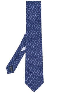 галстук с принтом якорей Salvatore Ferragamo