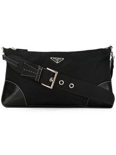 small leather trim tote Prada Vintage
