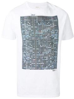 футболка с принтом  Wood Wood