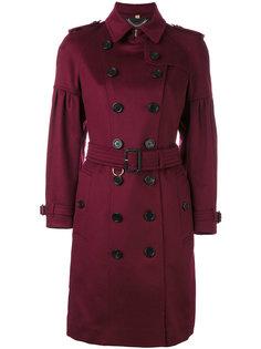 пальто с ремнем на талии Burberry