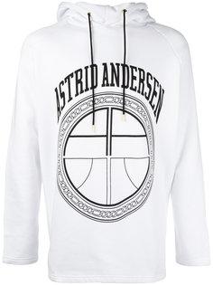 logo print hoodie Astrid Andersen