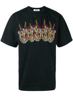 футболка с вышивкой MSGM