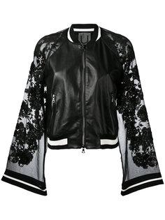 куртка-бомбер с полупрозрачными рукавами  Aviù