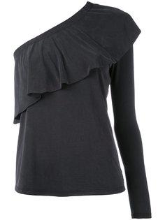 single sleeve ruffled blouse Just Female