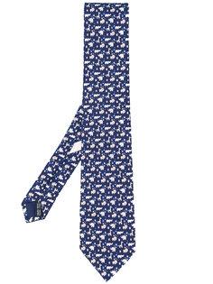 галстук с принтом животных Salvatore Ferragamo