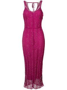вышитое платье-миди  Nina Ricci