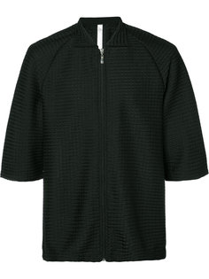 zipped textured sweatshirt Cottweiler