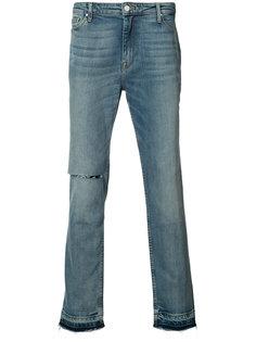 прямые джинсы с эффектом поношенности Ovadia & Sons