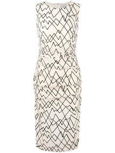 приталенное платье с геометрическим принтом Eggs