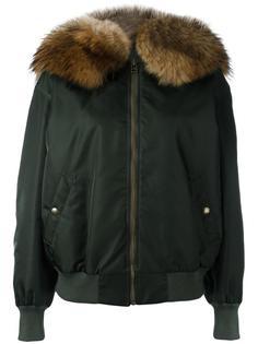 куртка-бомбер с меховой отделкой  Mr & Mrs Italy