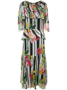 платье с рюшами и цветочным принтом Blugirl