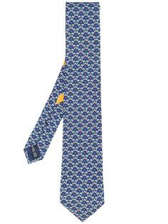 галстук с принтом пальм Salvatore Ferragamo
