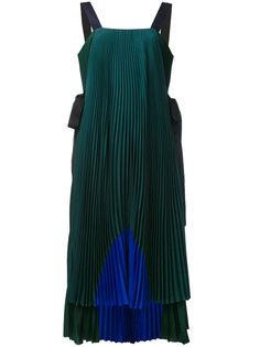 colour-block pleated dress Fendi