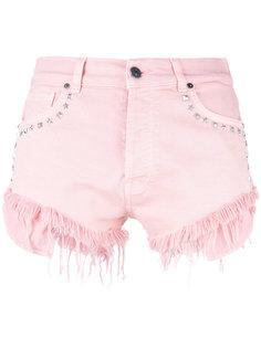 джинсовые шорты с заклепками Gaelle Bonheur