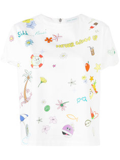 cartoon print T-shirt Mira Mikati