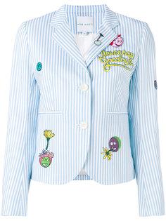 cartoon patch striped jacket Mira Mikati
