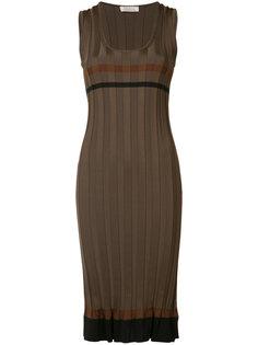 полосатое платье в рубчик Nina Ricci