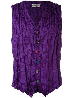 crease effect waistcoat Issey Miyake Vintage