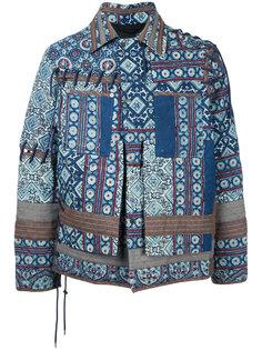 tile print jacket Craig Green