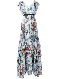 long tiered ruffle dress Erdem
