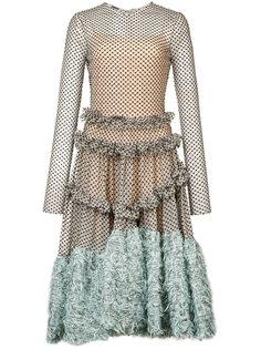longsleeved asymmetric midi dress  Jourden