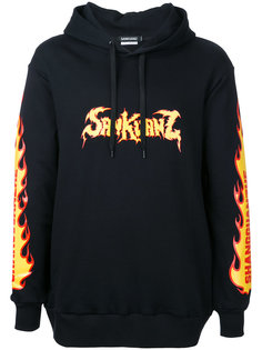 printed hooded sweatshirt Sankuanz