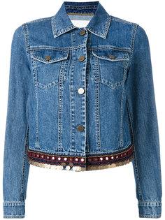 embellished hem denim jacket Bazar Deluxe