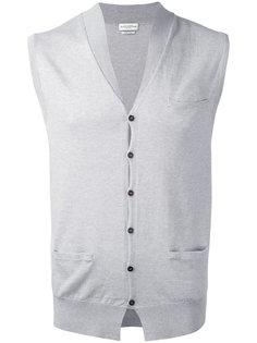 button knit waistcoat Ballantyne
