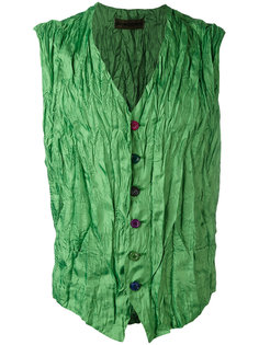 press creased waistcoat Issey Miyake Vintage
