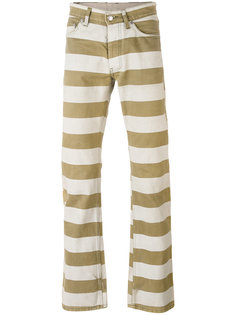 1999 striped straight fit trousers Helmut Lang Vintage