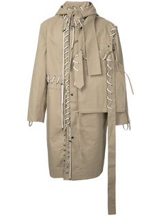 lace-up detail coat Craig Green