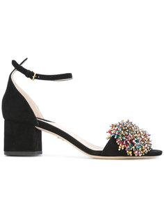 embellished pom pom sandals Elie Saab