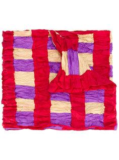 checked crinkle effect scarf Issey Miyake Vintage