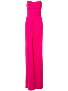 fitted strapless dress Marchesa Notte