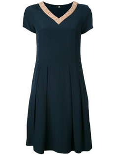 v-neck flared dress Ps By Paul Smith