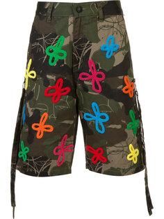 embroidered and printed bermuda shorts  Haculla