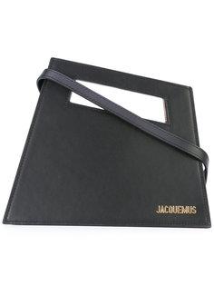 angled logo plaque clutch  Jacquemus