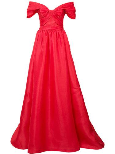 off-shoulder dress Marchesa