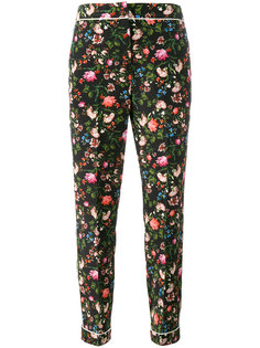брюки с цветочным принтом Erdem